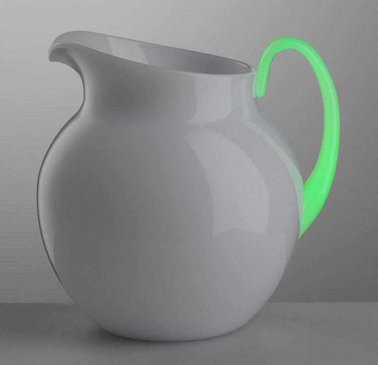 $68.00 White Fluorescent Pitcher