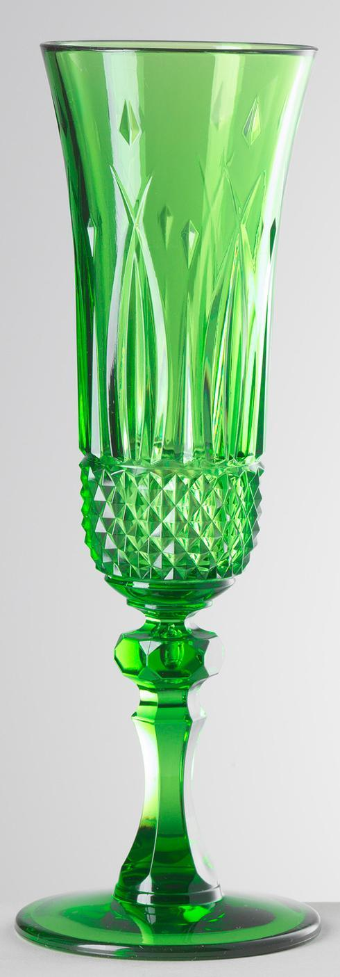 $25.00 Green Champagne Flute