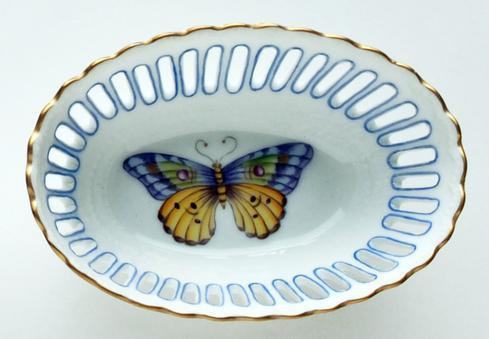 $137.00 Small Oval Blue Dish