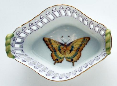 $146.00 Small Dish with Handles Purple