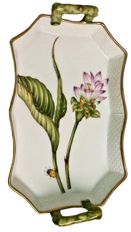 $440.00 Pink Thistle Tray With Handles