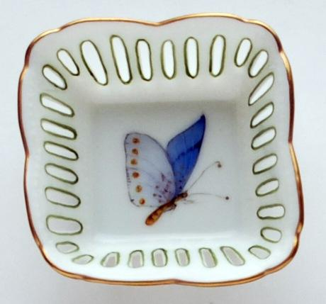 $109.00 Small Square Dish Butterfly Blue