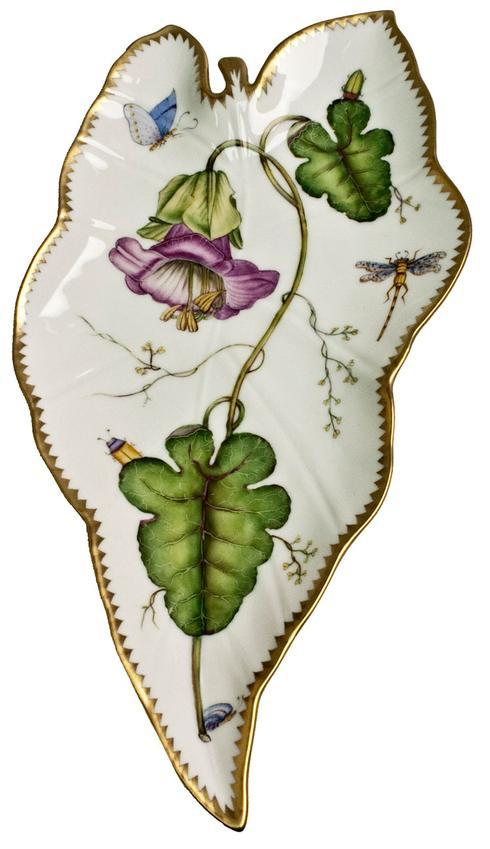 $518.00 Purple Flower Leaf Tray