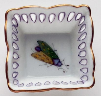 $109.00 Small Square Dish Green/Yellow Bug