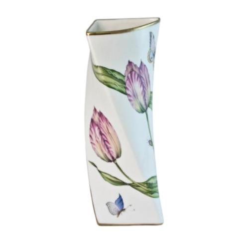 $560.00 Pink Tulip Triangular Vase