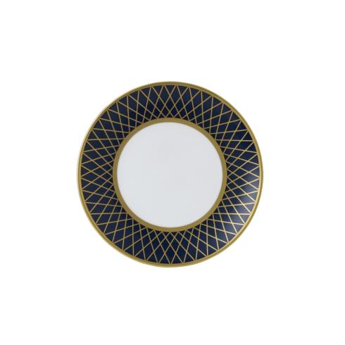 Royal Crown Derby  Majestic - Navy Blue Bread and Butter Plate $115.00