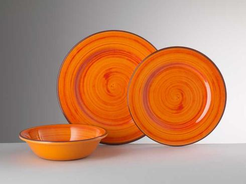 Dinnerware - St. Tropez Orange collection with 4 products