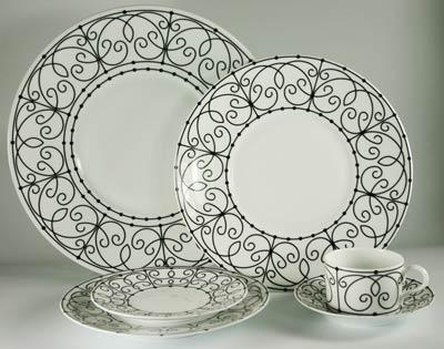 Paris Black Bread and Butter Plate collection with 1 products