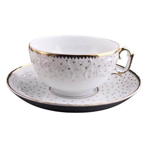 Anna Weatherley  Simply Anna - Polka Gold Tea Saucer $48.00