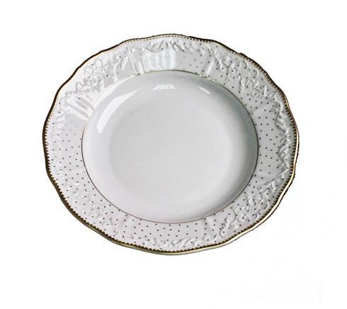 Anna Weatherley  Simply Anna - Polka Gold Rim Soup $78.00