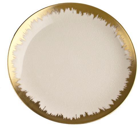 $68.00 Opal Dessert with Gold Brushstroke