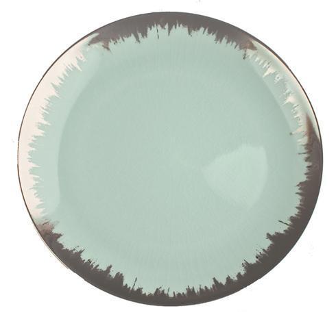 $68.00 Sea Glass Dessert with Platinum Brushstroke