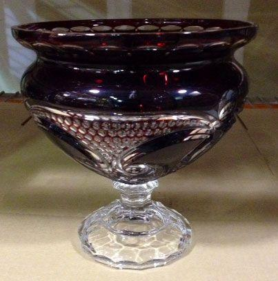 Limited Edition Valentine Raspberry Footed Bowl 10