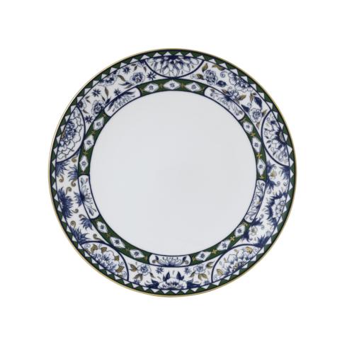 "Royal Crown Derby  Victoria\'s Garden - Blue & Green Border Plate 10.7"" $95.00"