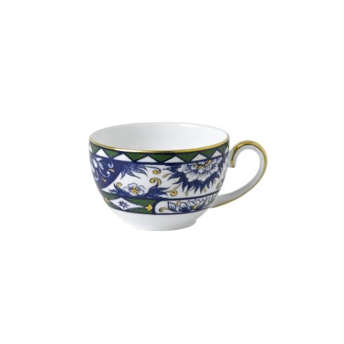 Royal Crown Derby  Victoria\'s Garden - Blue & Green Border Tea Cup $60.00