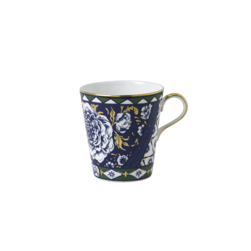 Royal Crown Derby  Victoria\'s Garden - Blue & Green Full Cover Mug $74.00