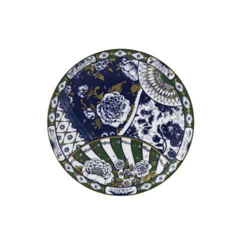 """Royal Crown Derby  Victoria\'s Garden - Blue & Green Full Cover Plate 8.2"""" $70.00"""