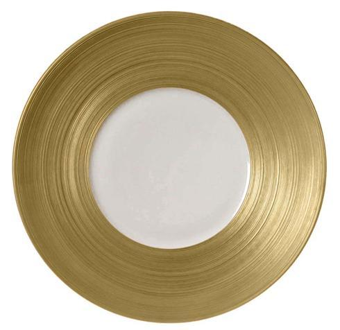 J.L. Coquet  Hemisphere - Gold Dinner Plate $205.00