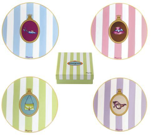 $24.50 Gift Box Of 4 Assorted Cocktail Plates