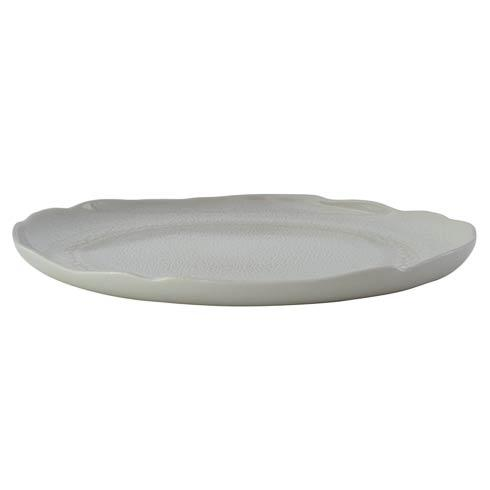 Jars Plume White Pearl Serving Plate $150.00