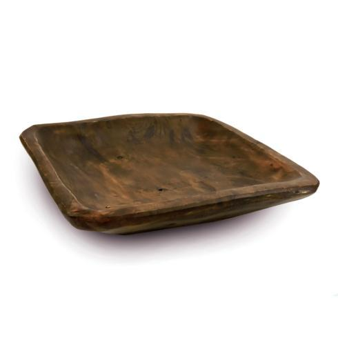 Square Root Plate - Chocolate - Set of 2