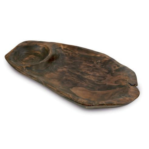 Enrico  Solid Root Chip and Dip Platter - Chocolate $37.95