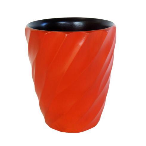 Tangerine Spiral Utensil Vase