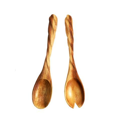 Enrico  Spiral Acacia Spiral Salad Server, Set of 2 $20.95