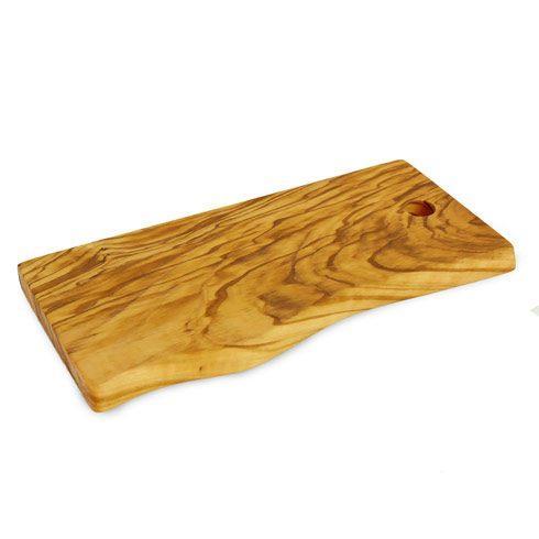 Enrico  Olivo: Italian Olive Wood Small Olive Wood Live Edge Cutting Board $23.95