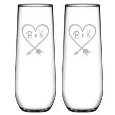 Susquehanna Glass   Carved Heart Stemless Champagne $17.00