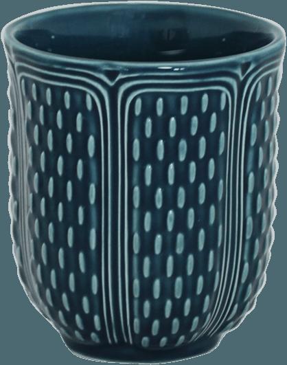 Gien  Pont Aux Choux Candles & Cups Tea Cup Ocean Blue $40.00