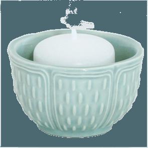 Gien  Pont Aux Choux Candles & Cups Votive Earth Grey $23.00