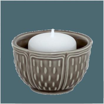 Gien  Pont Aux Choux Candles & Cups Votive Taupe $23.00