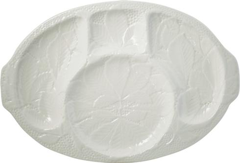 Gien  Chips & Dips Cocktail Platter - Kaolin White $115.00