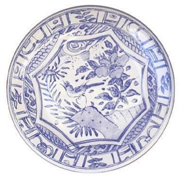 Gien  Oiseau Blue & White Canape Plate $22.00