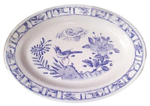 Gien  Oiseau Blue & White Oval Platter $125.00