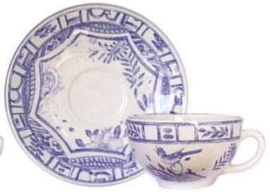 Gien  Oiseau Blue & White Breakfast Saucer $23.00