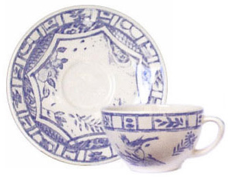 Gien  Oiseau Blue & White Tea Cup $41.00