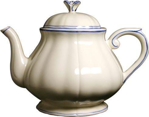 Gien  Filet Bleu Teapot $250.00