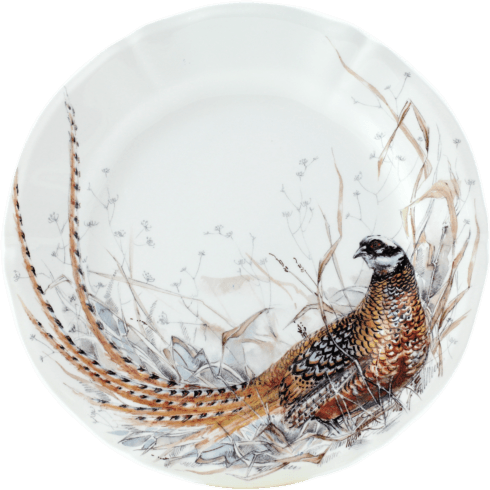 Gien  Sologne Dessert Plate - Pheasant $47.00