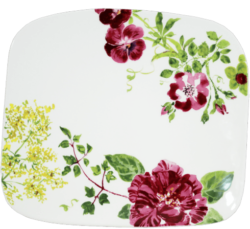 $130.00 Organic Square Plate, Large