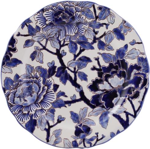 Gien  Pivoines Bleues Dessert Plate $245.00