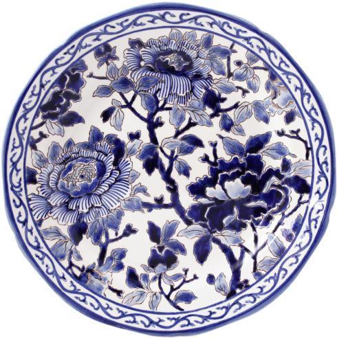 Gien  Pivoines Bleues Cake Platter $347.00
