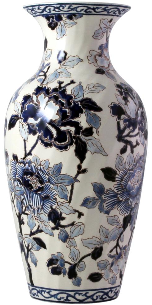 Gien  Pivoines Bleues Fluted Vase 1 $520.00