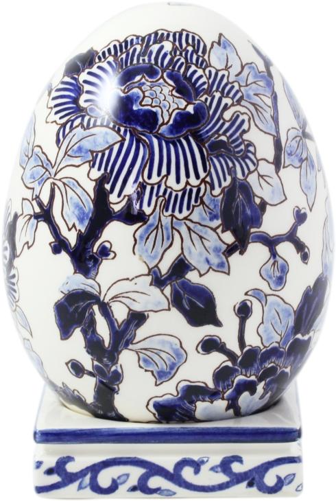 Gien  Pivoines Bleues Egg On Stand $347.00