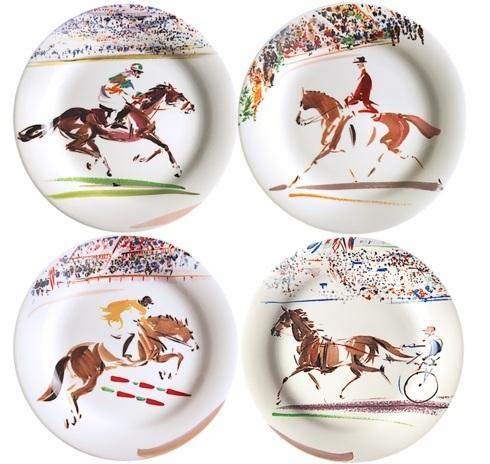 $130.00 Canape Plates, Set of 4 Assorted