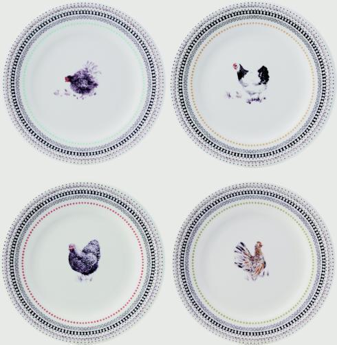 $120.00 Dessert Plates - Set of 4 Assorted