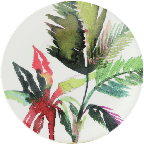 Vegetal Canape Plate - Red
