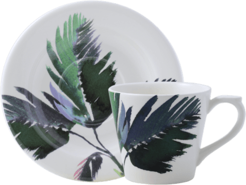 Vegetal Tea Cup and Saucer
