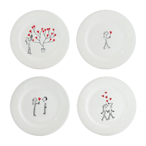 $96.00 Dessert Plate, Set of 4 Assorted